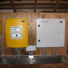 Balance of system installed in battery shed.