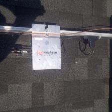 Installed Enphase micro-inverter.