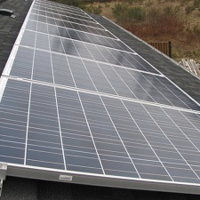 Completed 2.4kw Grid-tied solar array.