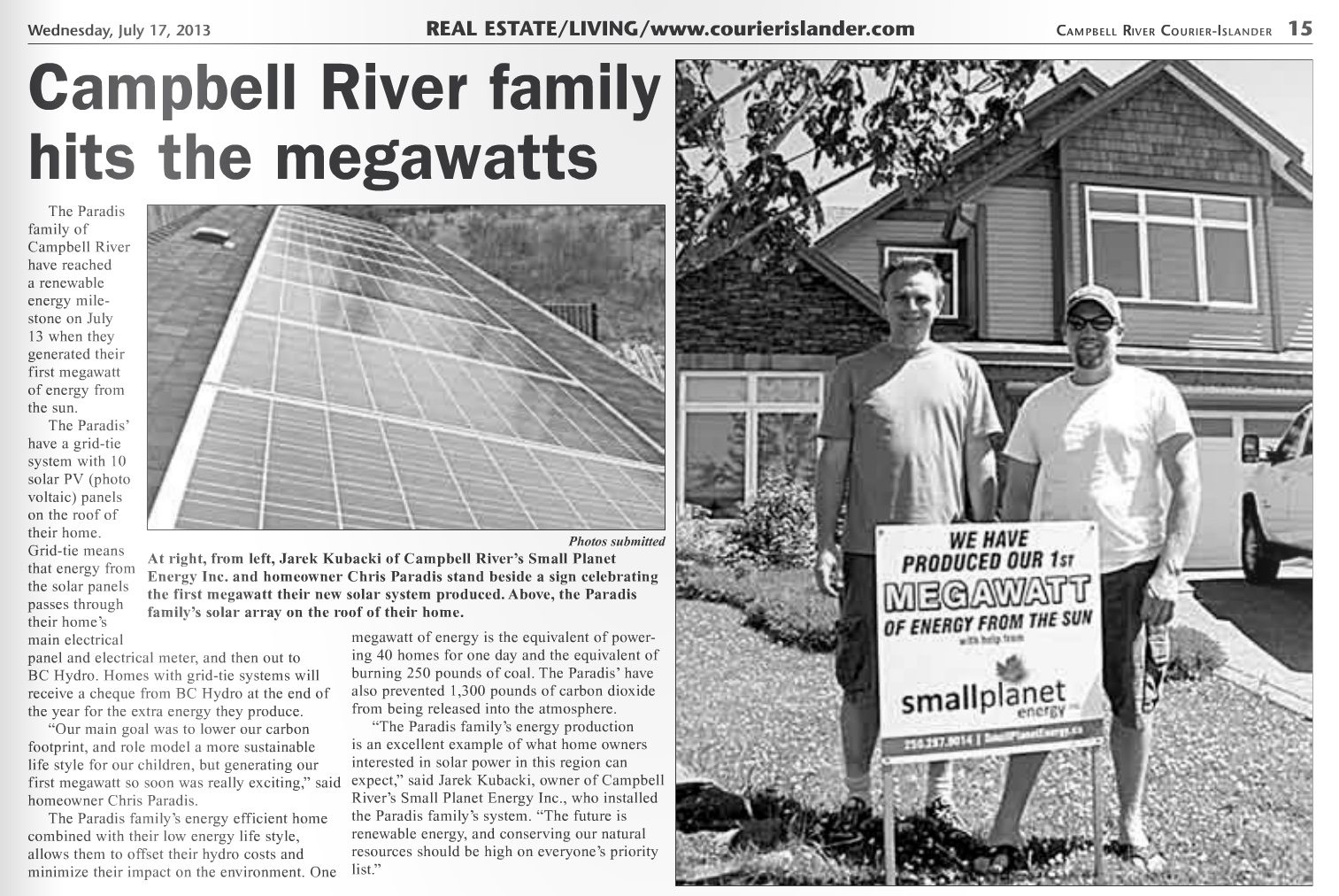 20130713-Campbell-River-Courier-Islander-article